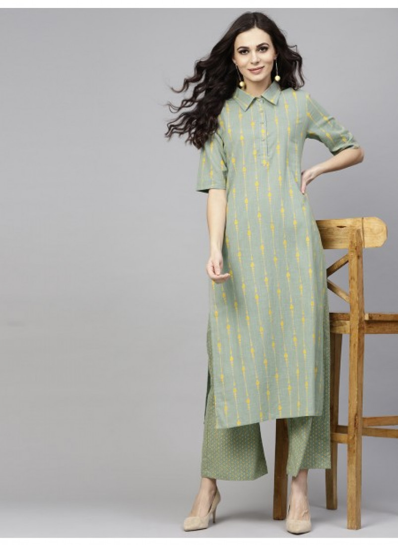 Mint Green Kurta with Pant